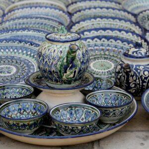 Узбекская посуда и ножи